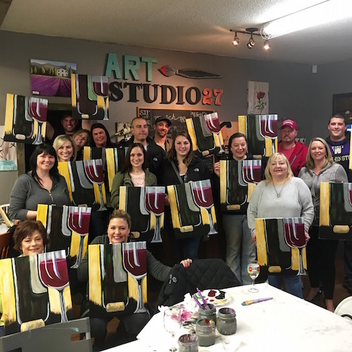 Home art studio 27 sip and paint private paint parties for Private paint party