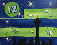 Seahawks Flag with Lights