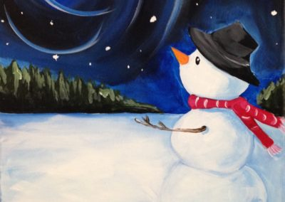 Snowman and Moon