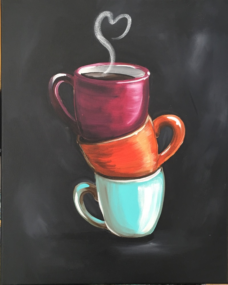 sip and paint coffee cups art studio 27 sip and paint