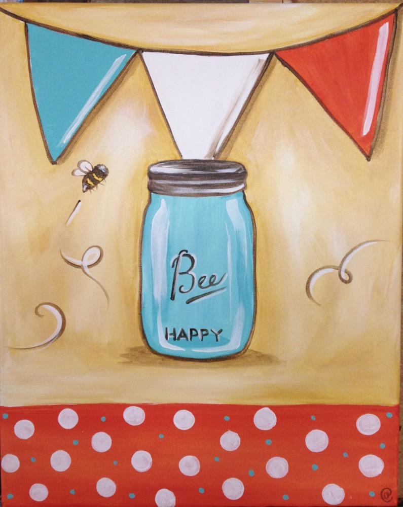 Mason Jar with Banner