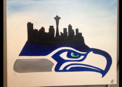 Seahawks Seattle Skyline