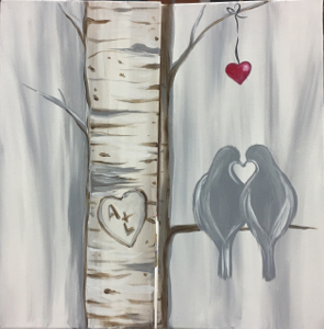Birch Trees Birds