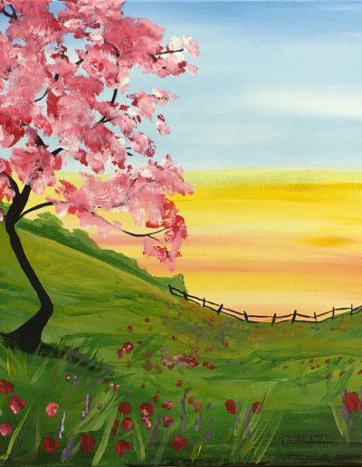 Cherry Blossom Sunset