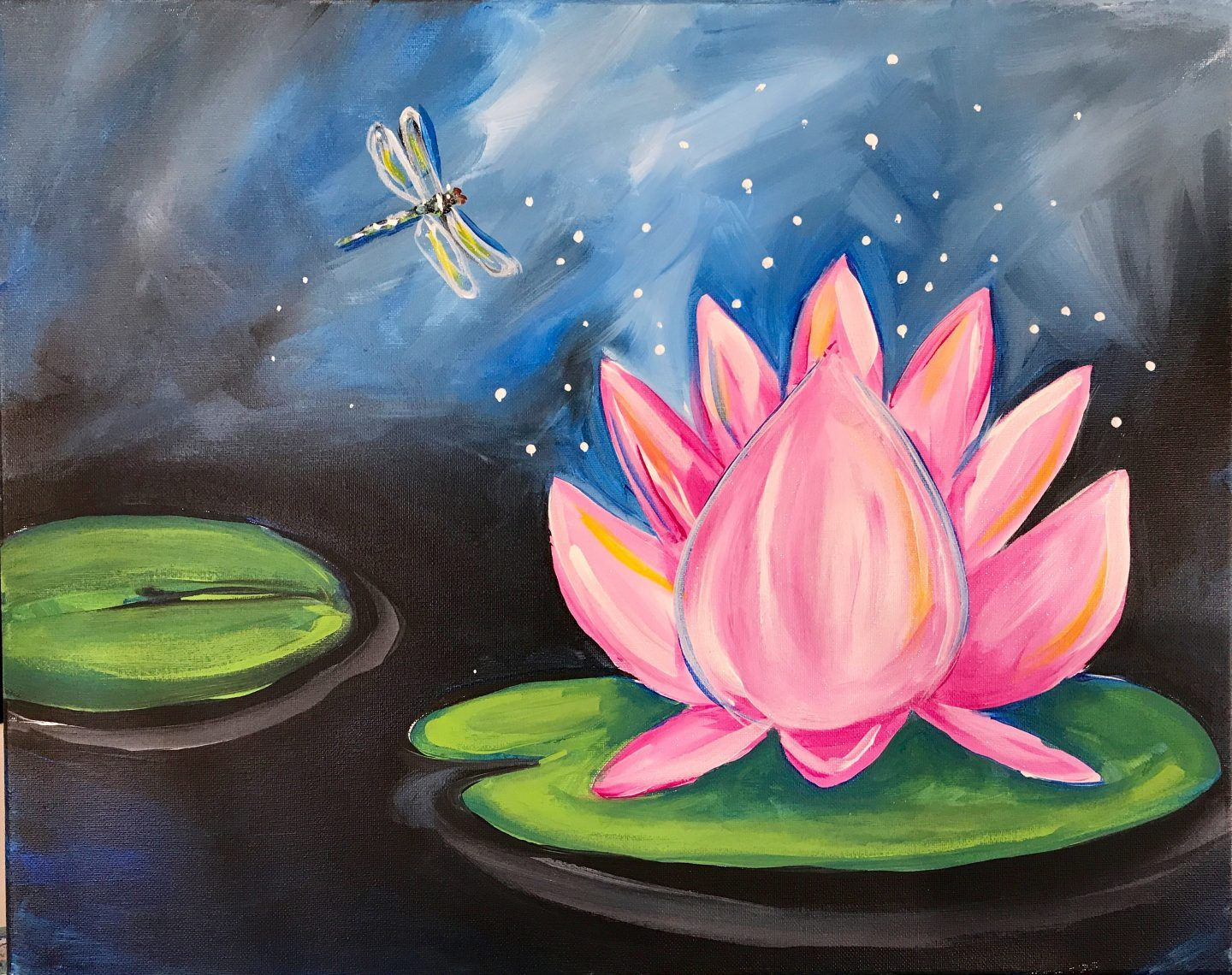 Lotus and Dragonfly