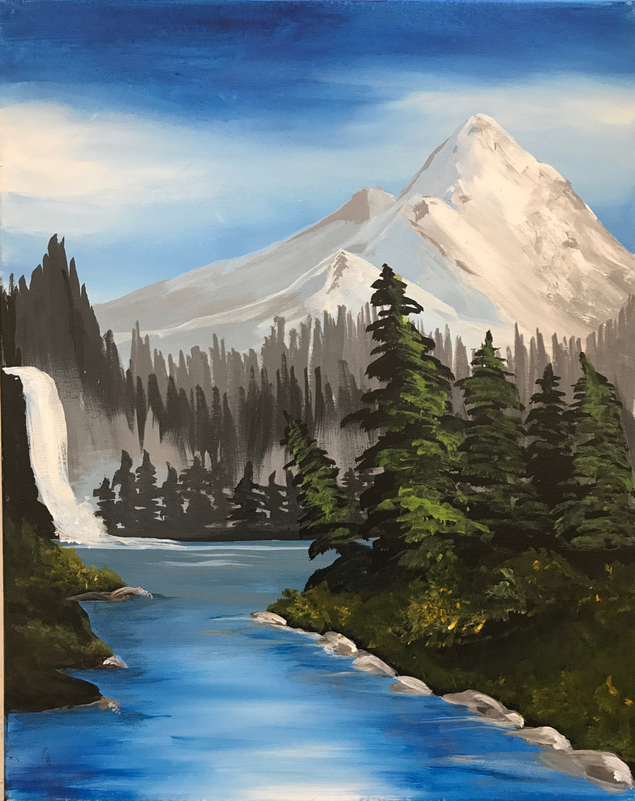Sip Paint Bob Ross Night Art Studio 27 Sip And Paint Private