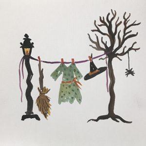 Witch clothesline