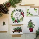 holiday watercolor
