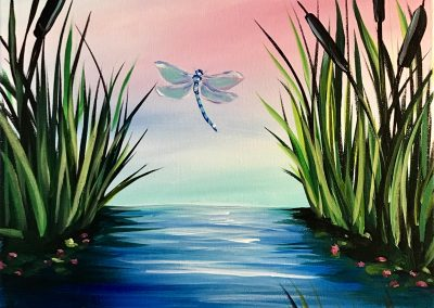 Dragonfly and Cattails
