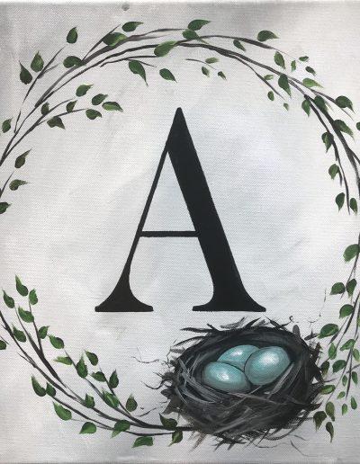 monogram with Nest