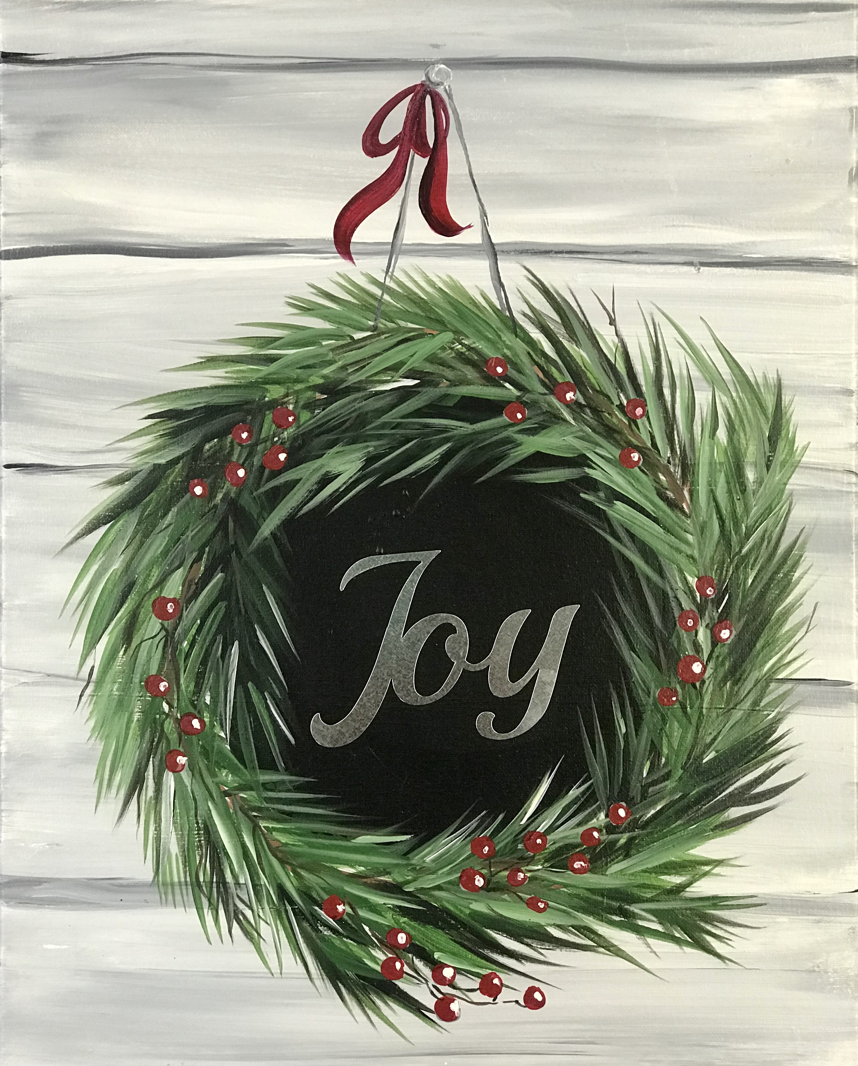 Holiday Joy Wreath